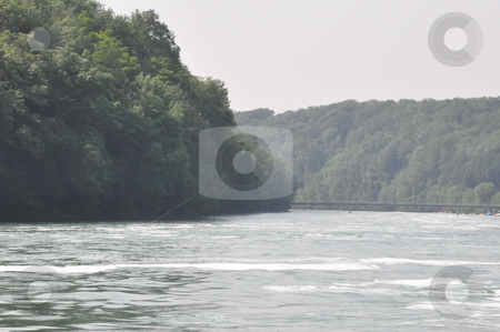 Rhine River in Schaffhausen stock photo, Rhine River in Schaffhausen at the border of Germany and Switzerland by Ritu Jethani