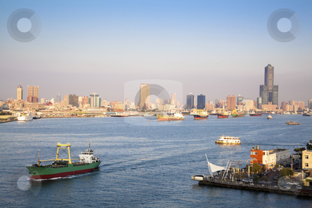 Cityscape of Kaohsiung harbor  in Taiwan stock photo, Cityscape of Kaohsiung harbor  in Taiwan by tomwang