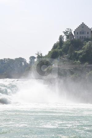 Rhine Falls in Schaffhausen stock photo, Rhine Falls in Schaffhausen at the border of Germany and Switzerland by Ritu Jethani