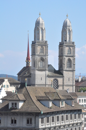 Zurich in Switzerland stock photo, Downtown Zurich in Switzerland by Ritu Jethani