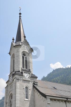 Church in Switzerland stock photo, Church in the Alps in Switzerland by Ritu Jethani