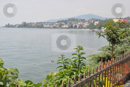 Montreux in Switzerland stock photo, Town of Montreux in Switzerland by Ritu Jethani