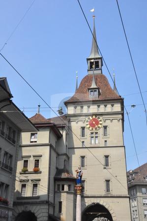 Clock Tower in Bern stock photo, Clock Tower in Bern, Switzerland by Ritu Jethani