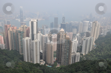 Aerial View of Hong Kong stock photo, Aerial View of Hong Kong from Victoria Peak by Ritu Jethani