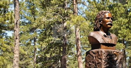 Deadwood - Wild Bill Statue Background stock photo, Deadwood - Wild Bill Statue Background by Liane Harrold