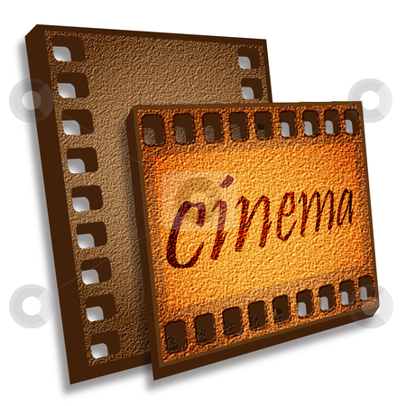 Cinema card stock photo, Two cadre of brown color on a pure background by Alina Starchenko