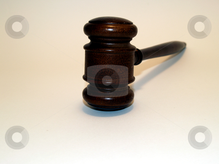 Gavel stock photo, Gavel on white  by Cora Reed