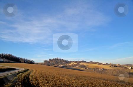 Landscape stock photo, Landscape of a hill under a blue sky by Fabio Alcini