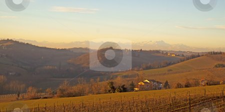 Landscape stock photo, Landscape of a hill under a blue sky by Fabio Alcini