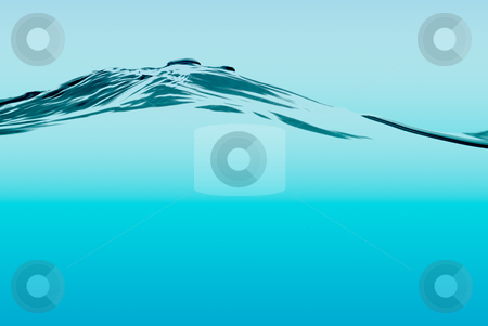 Blue water wave stock photo, Blue water wave on a blue gradient background. by Homydesign