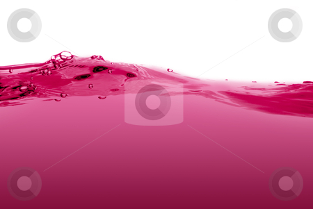 Pink liquid wave stock photo, Pink liquid wave isolated on a white background. by Homydesign
