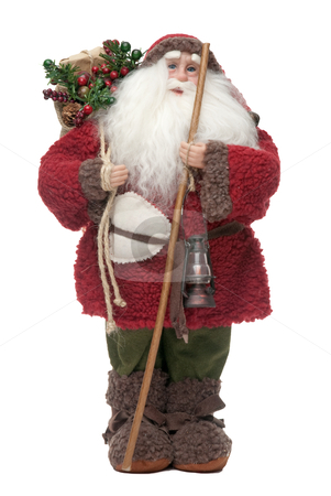 Santa Claus doll stock photo, Santa Claus doll isolated on white background. by Homydesign