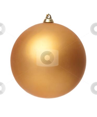 Yellow christmas ball stock photo, Yellow christmas ball isolated on white background. by Homydesign