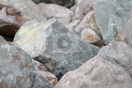 Rocks stock photo, Grey rocks, photo good as a background by Olena Pupirina