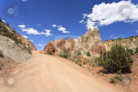 Cottonwood Canyon Road stock photo, Colorful rock formations along BLM Road 400, called Cottonwood Canyon Road, between US Highway 89 and Utah State Route 12, Utah, USA by mdphot
