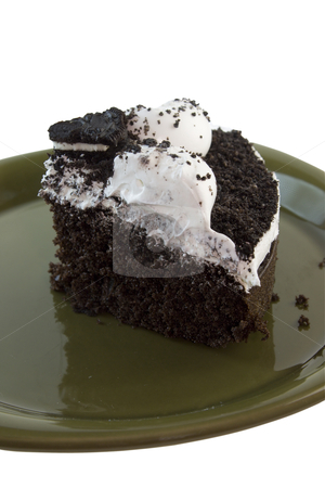 Cookies and cream cake stock photo, cookeis and cream cake on a devilsfood base by Lee Barnwell