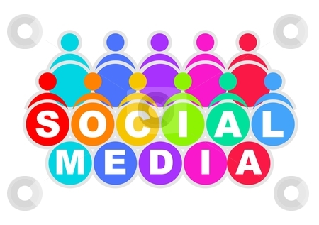 Social media stock photo, An illustration of colorful social media icon by Sreedhar Yedlapati