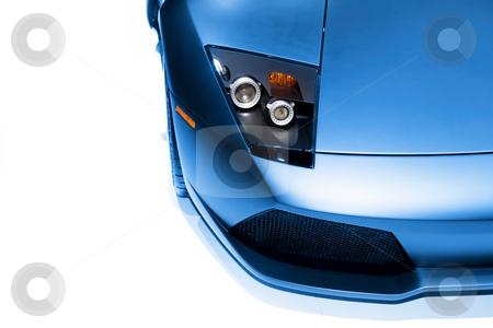 Car head lamp stock photo, Head lamp and front end details of  sports car by Sreedhar Yedlapati