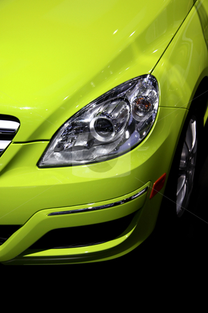 Close up shot of car stock photo, Close up shot of bright green modern car head lamp by Sreedhar Yedlapati