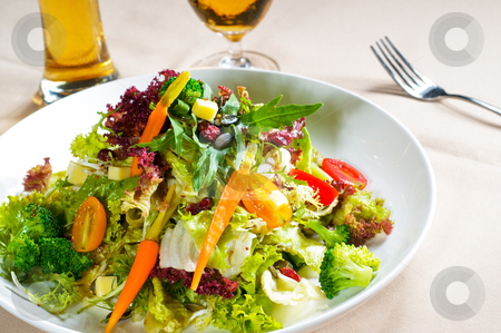 Fresh mixed salad stock photo, fresh mixed vegetables salad extreme close up ,very healthy food by Francesco Perre