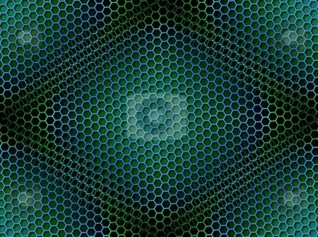 Honeycomb Background Seamless Blue Green stock photo, Seamless blue green honeycomb on brown background with light effect. by Henrik Lehnerer