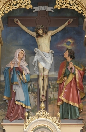 Crucifixion, Blessed Virgin Mary and Saint John under the cross  stock photo, Crucifixion, Blessed Virgin Mary and Saint John under the cross  by Zvonimir Atletic