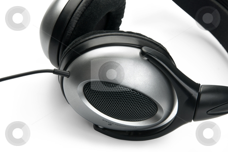 Headphones, isolated on white background. stock photo, Headphones, isolated on white background. by Andrey Zyk