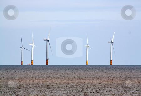 Wind turbines 1 stock photo, wind turbines in skegness uk by lizapixels