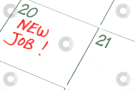 New Job stock photo, A calendar entry reminding of a New Job  by Robert Byron