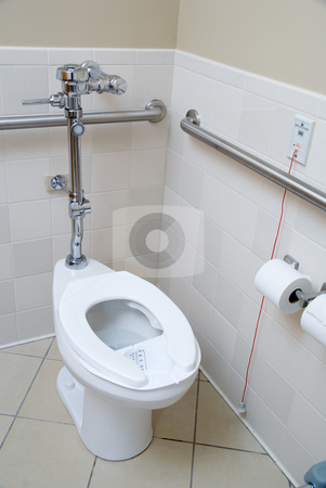 Hospital Room Latrine Stock Photo