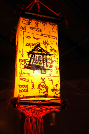 Chinese lantern stock photo, A typical Chinese lantern lighting at night by John Young