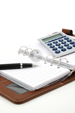 Business organizer stock photo, business organizer, notebook or planner with pen  by Gunnar Pippel