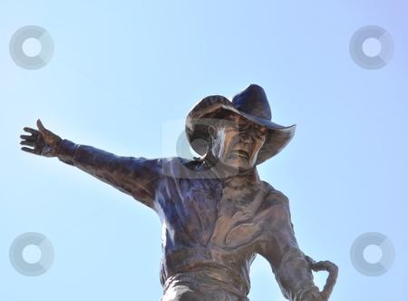 Deadwood rodeo rider statue stock photo, Deadwood rodeo rider statue by Liane Harrold