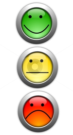 Poll stock photo, poll or customer satisfaction survey concept with smilie button by Gunnar Pippel