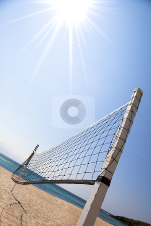 Beach Volleyball and sunlight stock photo, Beach Volleyball and sunlight by tomwang