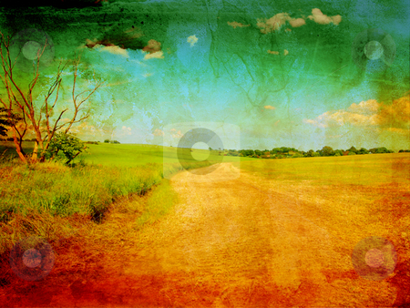 Beautiful grungy background with rural road stock photo, Beautiful grungy background with rural road by Juliet Photography