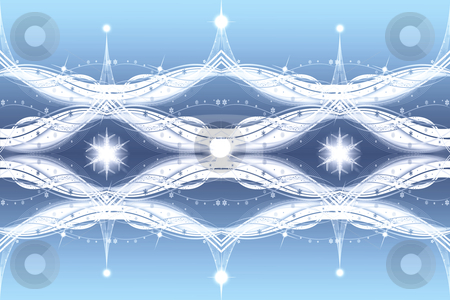 beautiful snowflakes and lights background stock photo, Texture of beautiful snowflakes and lights background by Ingvar Bjork