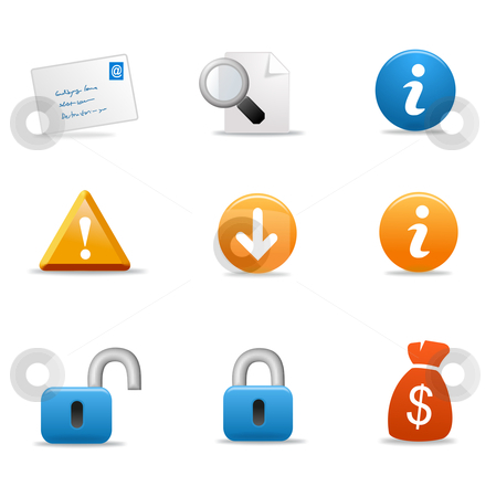 3d icon stock photo, 3d icon signs and symbols - blue orange color by Stelian Ion