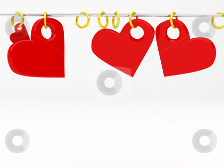 Hearts stock photo, 3d render illustration for theme of love with hearts by Sabino Parente