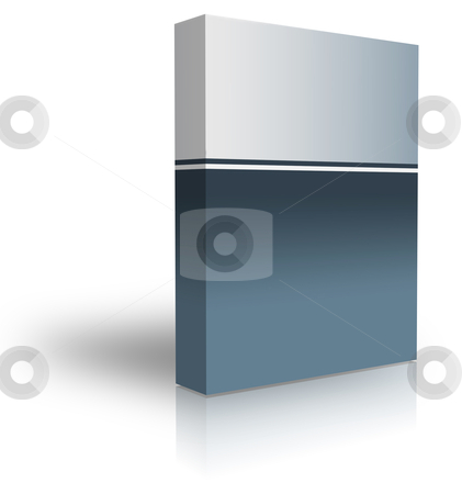 Blank box stock photo, blank box  over white background- computer generated clipart by Stelian Ion