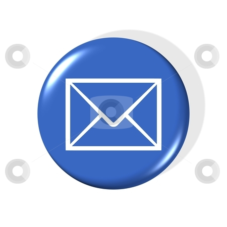 Email symbol stock photo, 3d email symbol - computer generated clipart by Stelian Ion