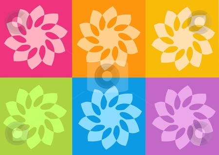 Yoga yantras flowers stock photo, yoga yantras flowers - computer generated clipart by Stelian Ion