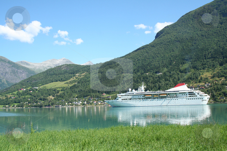 Cruise ship stock photo, Cruise ship in Norway - Europe Travel by Stelian Ion