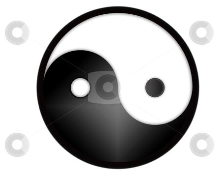 Yin yang symbol stock photo, yin yang tao symbol - computer generated by Stelian Ion