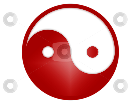 Yin yang symbol stock photo, yin yang tao symbol - computer generated by Stelian Ion