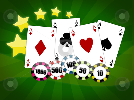 Poker game stock photo, Illustration with the subject of the poker game by Sabino Parente