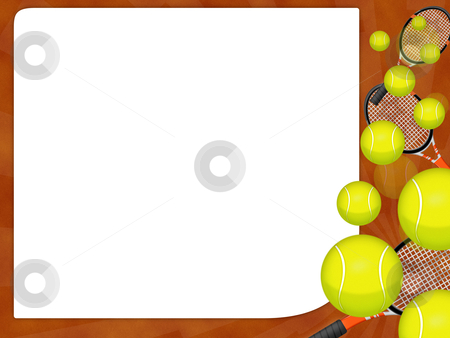 Tennis ball stock photo, Illustration of an isolated tennis ball by Sabino Parente