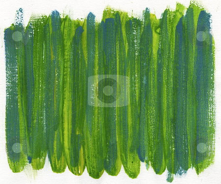Green and blue abstract painted on canvas stock photo, green and blue watercolor painted abstract on white artist canvas, self made by photographer by Marek Uliasz