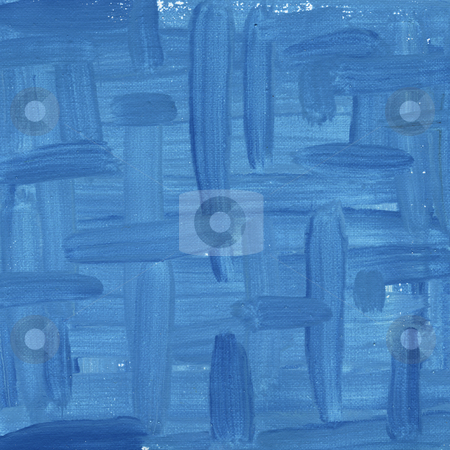 Blue abstract painted on canvas stock photo, blue watercolor painted abstract on white artist canvas, self made by photographer by Marek Uliasz