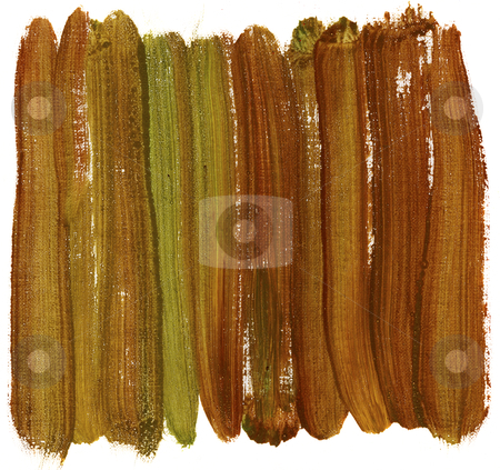 Brown and green painted abstract stock photo, brown and green abstract painted with watercolors on white artist canvas, self made by photographer by Marek Uliasz